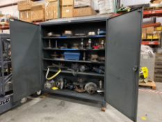 STRONGHOLD INDUSTRIAL STORAGE CABINET WITH CONTENTS