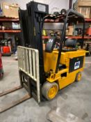 CAT M50 BATTERY POWERED FORKLIFT, 5000LB CAPACITY, TILT, SIDESHIFT, RUNS AND OPERATES