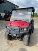 2015 CLUB CAR XMT 950 SIDE BY SIDE ATV, GAS POWERED, DUMP BED, RUNS AND OPERATES