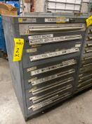 8 DRAWER STANLEY VIDMAR INDUSTRIAL PARTS CABINET/TOOL BOX
