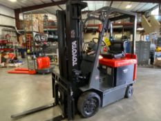 TOYOTA ELECTRIC FORKLIFT, 36V APPROX 4500LB LIFT CAPACITY, RUNS AND OPERATES