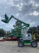 2012 GENIE Z45/25J ARTICULATING BOOM LIFT, 4x4, DUAL FUEL, 45' PLATFORM HEIGHT, 2,547 HOURS SHOWING
