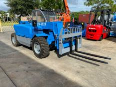 GENIE GTH-5519 MINI TELESCOPIC FORKLIFT, APPROX 5,500LB CAPACITY, DIESEL POWERED, 19'REACH, CRAB STE