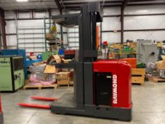 "RAYMOND ELECTRIC ORDER PICKER MODEL EASI-OPC30TT, 3,000 LB CAPACITY, 204"" HEIGHT CAP, 24V, RUNS AND"