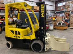 "HYSTER LP FORKLIFT MODEL S40FT, 4,000 LB CAPACITY, 189"" HEIGHT CAPACITY, TILT, CASCADE CLAMP ATTACH"