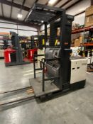 2014 CROWN ELECTRIC FORKLIFT, ORDER PICKER MODEL SP3505-30, W/MAX WEIGHT BATTERY, 3000LB CAPACITY, 1