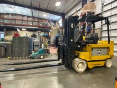 "2012 YALE ELECTRIC FORKLIFT MODEL ERC100, 10,000 LB CAPACITY, 185"" HEIGHT CAPACITY, TILT, SIDE SHIFT"