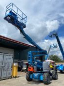 GENIE Z-45/25 DUAL FUEL ARTICULATING BOOM LIFT, 45' PLATFORM HEIGHT, 4x4, RUNS AND DRIVES