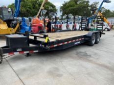 2018 SURE-TRAC DUAL ACLE TRAILER WITH FOLD DOWN RAMPS, 16,000 GVWR