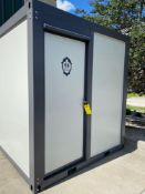 2020 UNUSED BATHROOM CONTAINER, SHOWER, SINK, 110V ELECTRIC, FULLY PLUMBED, FORK POCKETS