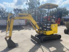 NEW HOLLAND EH15-B DIESEL MINI EXCAVATOR, EXTENDABLE RUBBER TRACKS, PUSH BLADE, BUCKET ATTACHMENT, 2