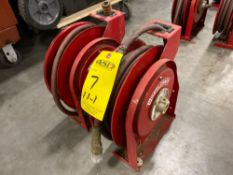 TWO REELCRAFT HOSE REELS