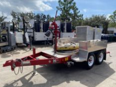 MGS INC. FIRE SUPPORT TRAILER WITH HOSES, STRETCHER, NATIONAL FOAM NOZZLE/ATTACHMENT