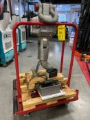 PORT-A-WEIGH SCALE HOOK MODEL MSI 4260A WITH ROLLING CART FOR CRANE