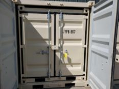 UNUSED 2020 8' OFFICE CONTAINER WITH SIDE DOOR, WINDOW & FORK POCKETS