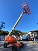 JLG 400S DIESEL POWERED BOOM LIFT, 40' MAX PLATFORM HEIGHT, 4x4, RUNS AND OPERATES