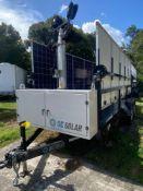 2015 MOBILE SOLAR POWER GENERATOR TRAILER, SELF CONTAINER POWER STATION, TEN 270 WATT SOLAR PANELS,