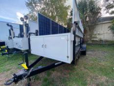 UNUSED 2015 MOBILE SOLAR POWER GENERATOR TRAILER, TEN 250 WATT SOLAR PANELS, 2 SMA 5750 WATT INVERTE