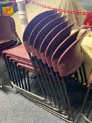 GROUP OF STACKING CHAIRS