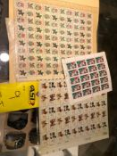 3 SHEETS OF STAMPS