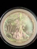 1993 SILVER AMERICAN EAGLE COIN 1 OZT