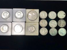LOT OF MISC. SILVER COINS