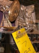 SILVER FLATWARE AND DISH