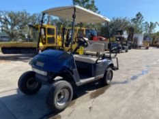 EZ-GO ELECTRIC GOLF CART, REAR SEATING, BATTERY CHARGER INCLUDED, RUNS AND DRIVES