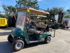 EZ-GO ELECTRIC GOLF CART, REAR SEATING, BUILT IN BATTERY CHARGER, RUNS AND OPERATES