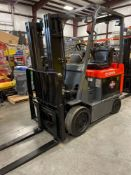 "TOYOTA 7FBCU25 ELECTRIC FORKLIFT, 5,000 LB CAPACITY, 170.5"" HEIGHT CAPACITY"
