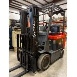 """TOYOTA 7FBCU25 ELECTRIC FORKLIFT, 5,000 LB CAPACITY, 170.5"""" HEIGHT CAPACITY"""