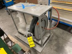 PNEUMATIC HOSE REEL WITH HEAVY DUTY SOLID STEEL TABLE