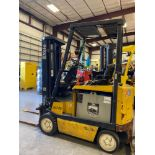 """YALE ELECTRIC FORKLIFT MODEL ERC040, 4,000 LB CAPACITY, 189"""" HEIGHT CAP, 48V, TILT, POWERS ON, WILL"""