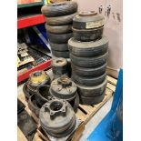 PALLET OF ASSORTED FORKLIFT TIRES