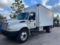 IH4300 BOX TRUCK, 16' X 8' BED, 4,000 LB CAPACITY LIFT GATE, NEWER ROLL UP BACK DOOR