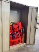 CABINET WITH DISASTER MEDICAL SUPPLIES
