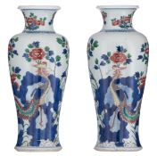 A pair of Chinese wucai vases