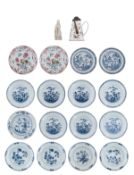 Two Chinese famille rose export porcelain dishes