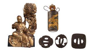 Three pierced iron tsuba