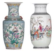 A Chinese Republic period polychrome vase
