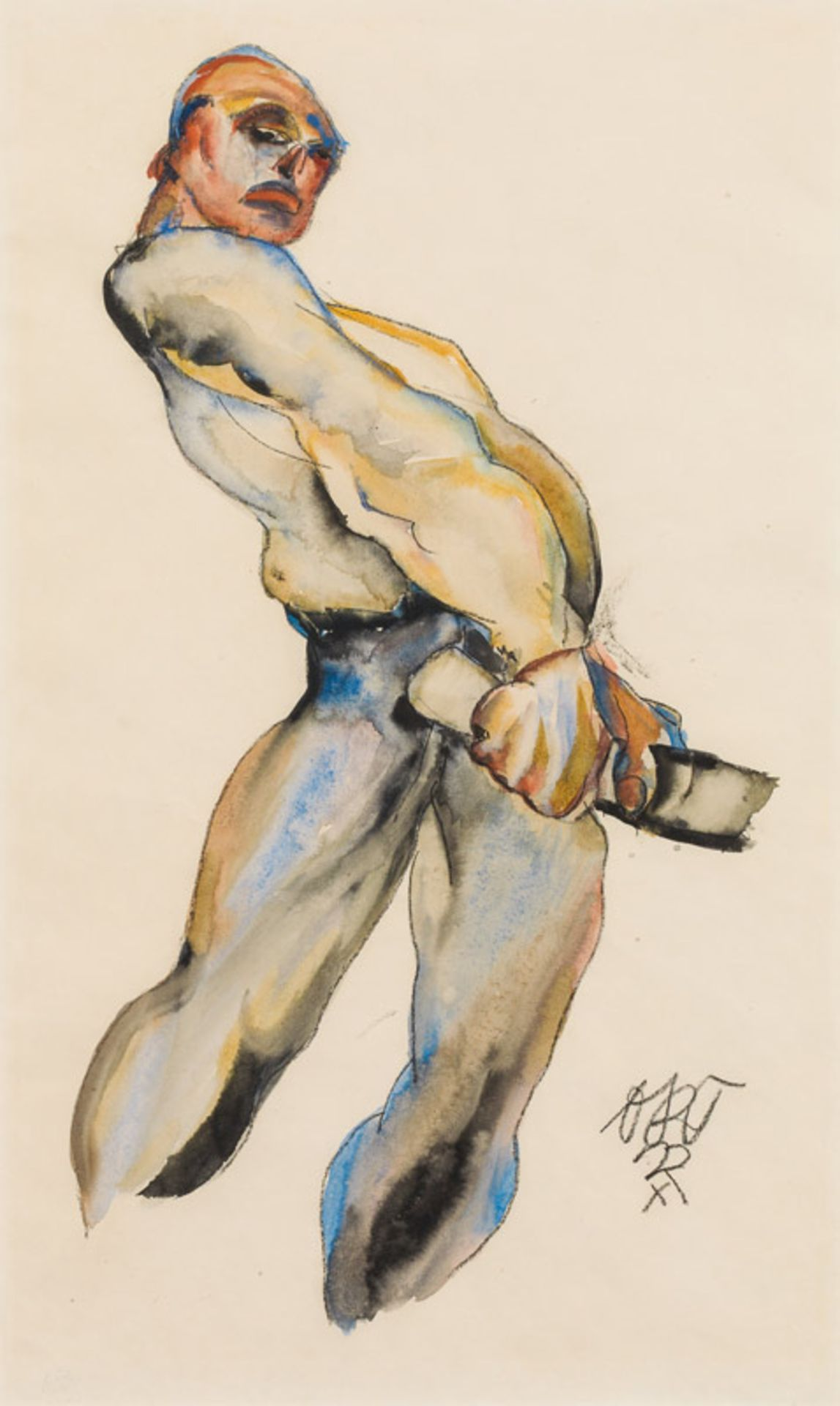 Otto Rudolf Schatz* Movement study, 1922
