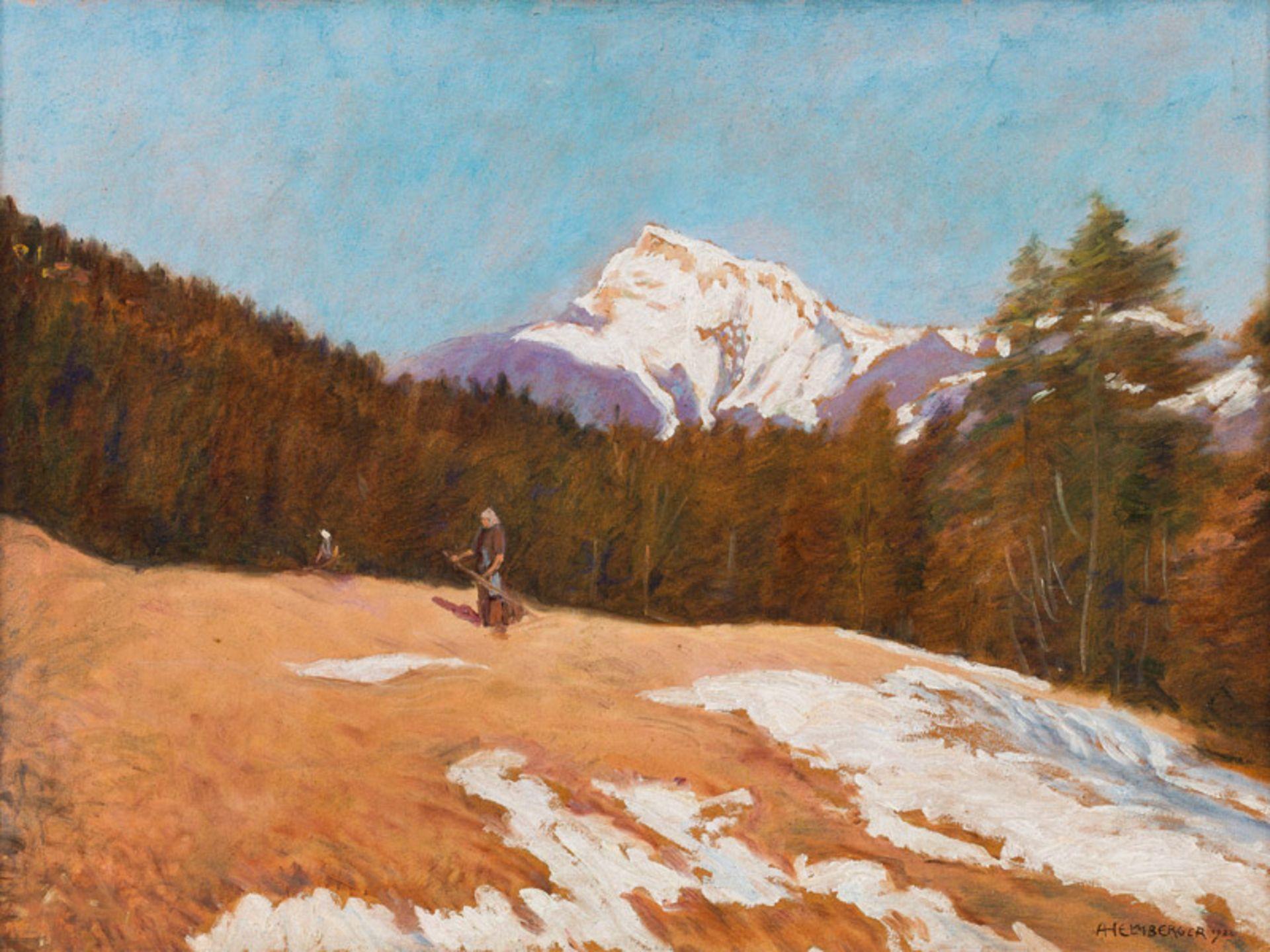 Adolf Helmberger* Mountain meadows near St. Gilgen, Abersee, 1922