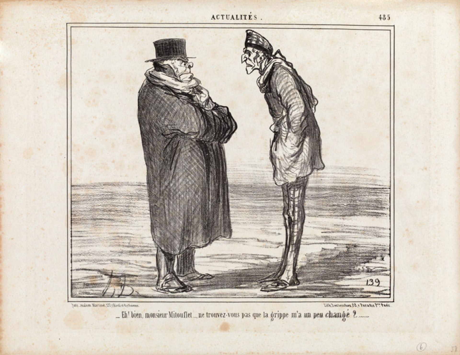 """Honoré Daumier """"Eh! bien Monsieur Mitouflet ...""""<br /"""