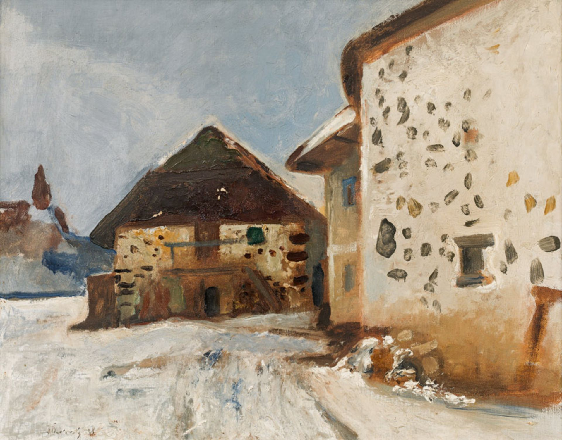 Josef Dobrowsky* Winter landscape, 1928