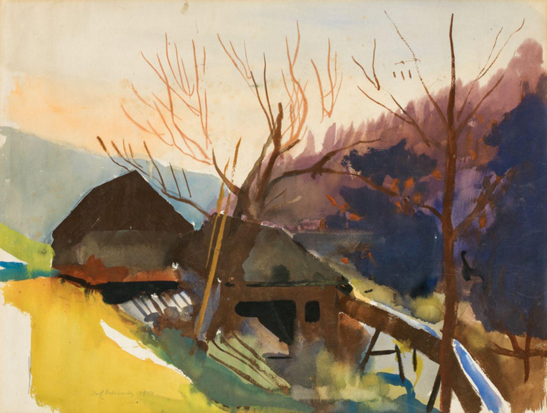 Josef Dobrowsky* Landscape, 1934