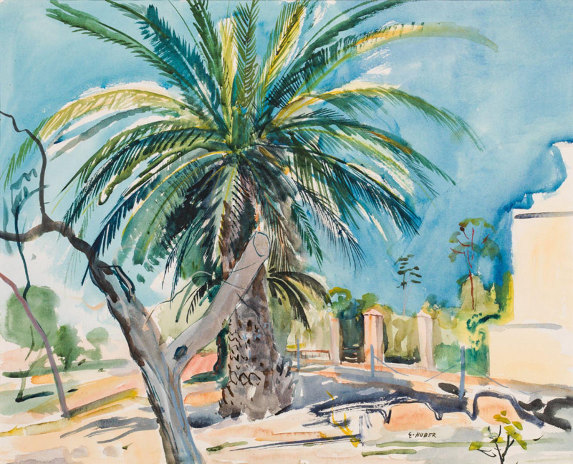 Ernst Huber* Palmtree on Capri