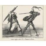 """Honoré Daumier """"Combat singulier ...""""<br /"""
