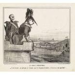 """Honoré Daumier """"Le czar à Sébastopol - C'est vexant ...""""lit"""
