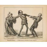 """Honoré Daumier """"Une position difficile ...""""<br /"""