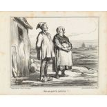 """Honoré Daumier """"Dire que nous v'la parisiens!""""<br /"""